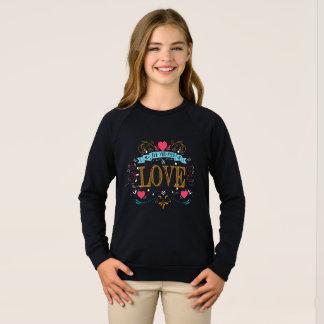 Sweatshirt tout que vous avez besoin est amour
