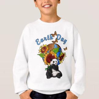 Sweatshirt Une terre de tournesol et de panda