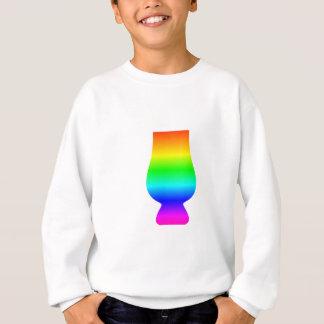 Sweatshirt Verre de whiskey d'arc-en-ciel
