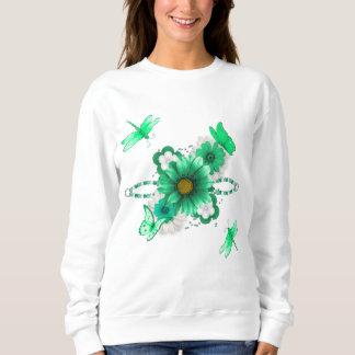 Sweatshirt Vert vert floral