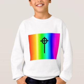 Sweatshirt Vitesse de croix celtique d'arc-en-ciel