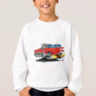 Sweatshirt Voiture 1957 de rouge de nomade de Chevy