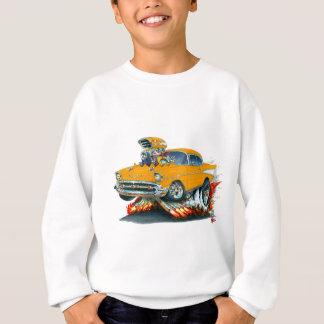 Sweatshirt Voiture 1957 d'orange de Chevy Belair