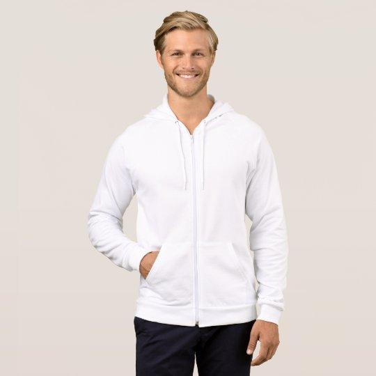 Veste molletonnée pour homme avec zip, Blanc