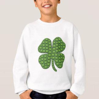 Sweatshirts irlandais chanceux de pull de trèfle