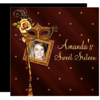 Sweet sixteen, boule de mascarade, invitation