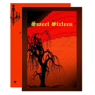 Sweet sixteen, invitation de costume de Halloween