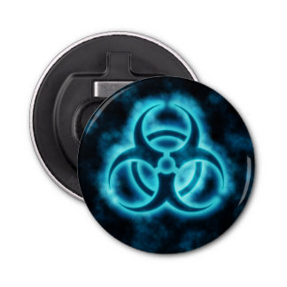Symbole bleu de Biohazard Décapsuleur