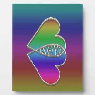 Symbole chrétien de poissons d'Ixoye Impressions Sur Plaque