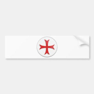Symbole croisé de Templar du chevalier Autocollant De Voiture