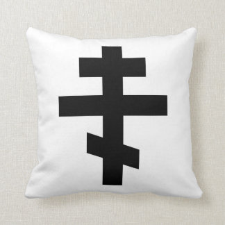 symbole croisé russe d'un dieu de religion coussin