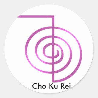 Symbole curatif de Cho Ku Rei Reiki Sticker Rond