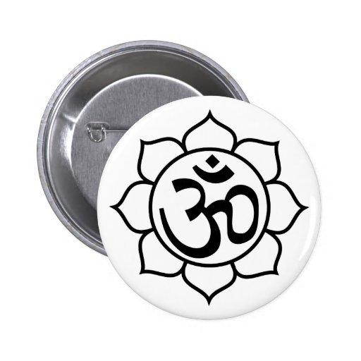 symbole d 39 aum de fleur de lotus pin 39 s zazzle. Black Bedroom Furniture Sets. Home Design Ideas