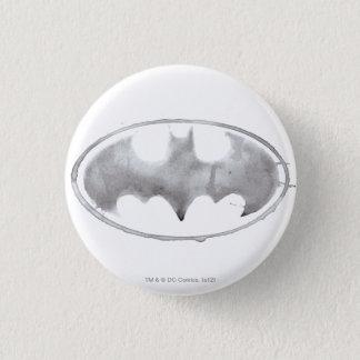 Symbole de batte de café - gris badge rond 2,50 cm