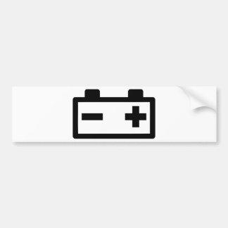 Symbole de batterie autocollant de voiture