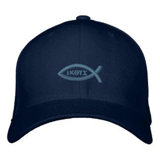 Symbole de chrétien de poissons d'Ichthys Jésus Chapeaux Brodés