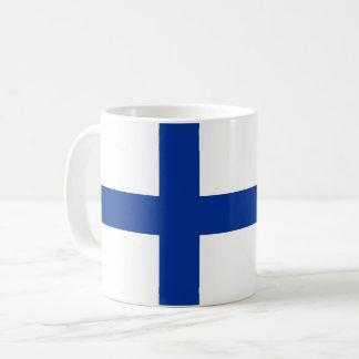 symbole de drapeau de pays de la Finlande long Mug