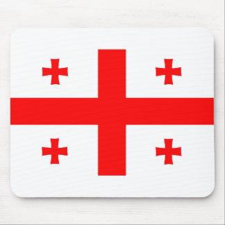 symbole de drapeau de pays de la Géorgie long Tapis De Souris