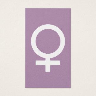 Symbole de femelle d'herbe de lavande cartes de visite
