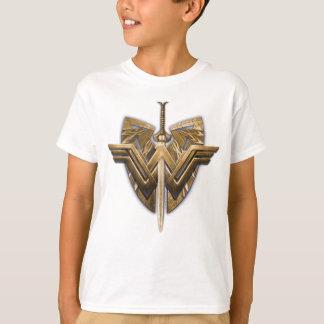 Symbole de femme de merveille avec l'épée de la t-shirt