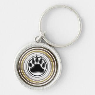 Symbole de fierté de patte d'ours porte-clés
