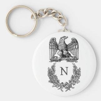 Symbole de napoléon porte-clé rond