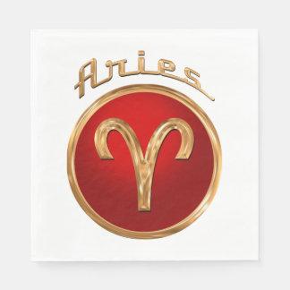 Symbole de zodiaque de Bélier Serviettes En Papier