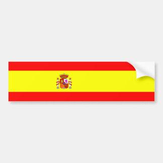 Symbole espagnol de nation de drapeau de pays de autocollant de voiture