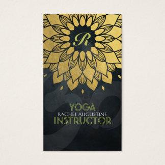 Symbole floral de l'OM de méditation de yoga de Carte De Visite Standard