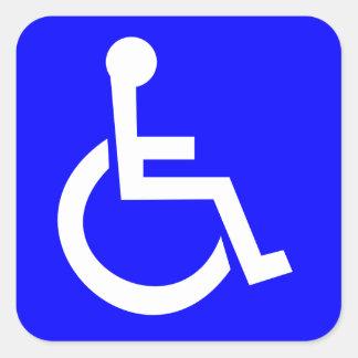 Symbole international officiel de l'accès sticker carré