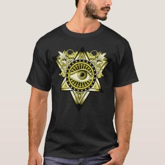 Symbole mystique d'oeil d'illuminati principal t-shirt