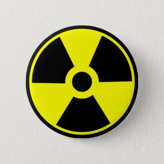 Symbole radioactif de symbole de rayonnement badge rond 5 cm