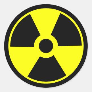 Symbole radioactif de symbole de rayonnement sticker rond
