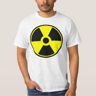 Symbole radioactif de symbole de rayonnement t-shirt