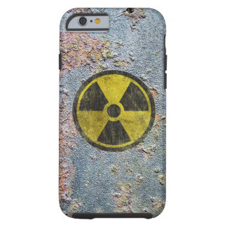 Symbole radioactif grunge coque iPhone 6 tough