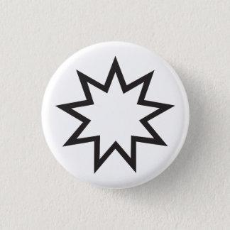 Symbole religieux de Bahai Badge Rond 2,50 Cm
