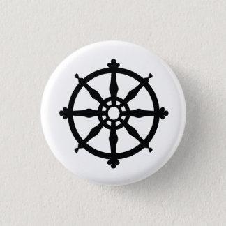 Symbole religieux de bouddhisme badge rond 2,50 cm