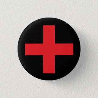 Symbole religieux de croix grecque badge rond 2,50 cm