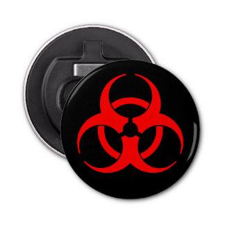 Symbole rouge de Biohazard Décapsuleur