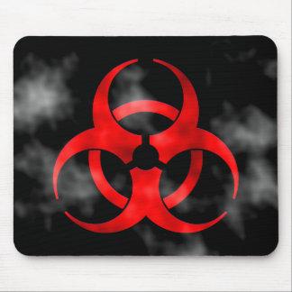Symbole rouge de tabagisme Mousepad de Biohazard Tapis De Souris