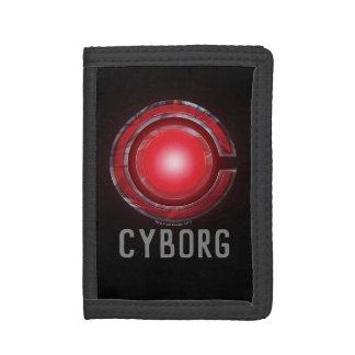 Symbole rougeoyant de cyborg de la ligue de