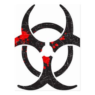 Symbole sanglant de Biohazard Carte Postale