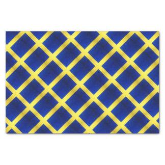 Symbole suédois affligé de drapeau papier mousseline