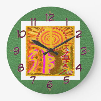 Symboles curatifs de REIKI Grande Horloge Ronde