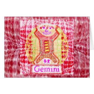 Symboles de zodiaque de GÉMEAUX Carte