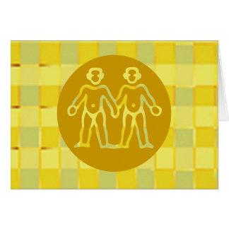 Symboles de zodiaque sur les cadres d'or carte