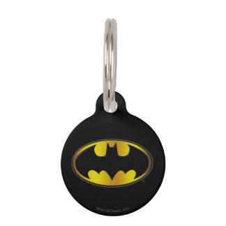 Symbool   van Batman het Ovale Logo van de Huisdierpenning