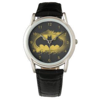 Symbool | van Batman Zwart en Geel Logo Horloge
