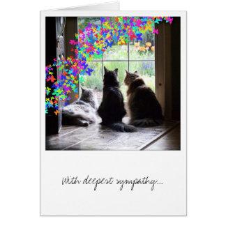 Sympathie perte d animal familier carte de pont