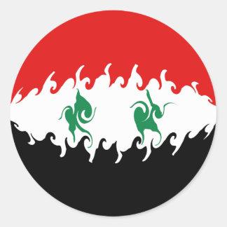 Syria Gnarly Flag Sticker